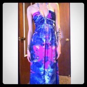 Cynthia Rowley Multi-Colored Maxi Sun Dress 👗